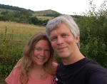 Paul and Emma in Garden - 30 July 2014