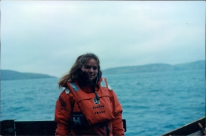 Me on a scientific research trip in the Irish Sea