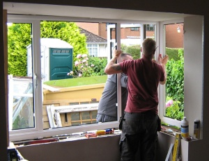 Our windows going in