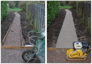 Landscaping combi - path